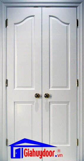 Cửa gỗ công nghiệp HDF Gia Huy Door đôi