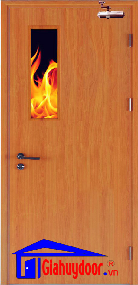 Cửa gỗ chống cháy Gia Huy Door GHD GCC-P1G1