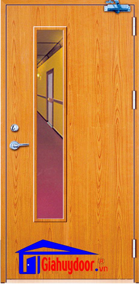 Cửa gỗ chống cháy Gia Huy Door GHD GCC-P1GL