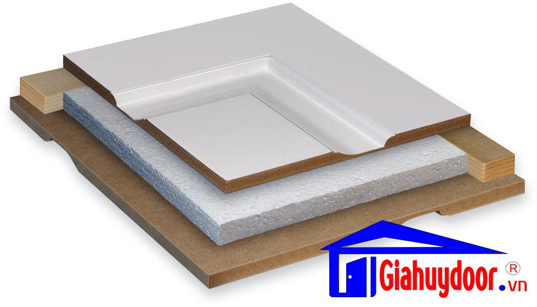 Cửa gỗ công nghiệp HDF GHD 2A-C7 - GIAHUYDOOR 0886.500.500