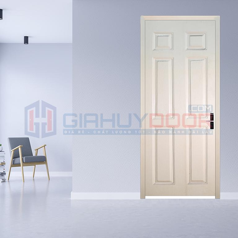 Cửa gỗ phòng ngủ HDF sơn màu