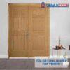 Cửa gỗ công nghiệp HDF Veneer 2 canh 12A-soi