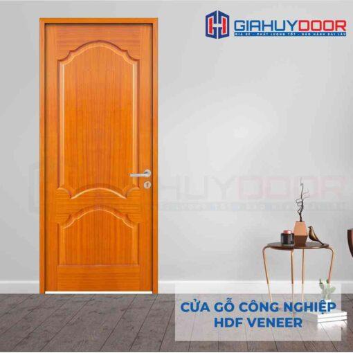 Cửa gỗ công nghiệp HDF Veneer 2A lum xoan dao