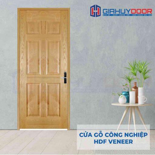 Cửa gỗ công nghiệp HDF Veneer 6A-ash