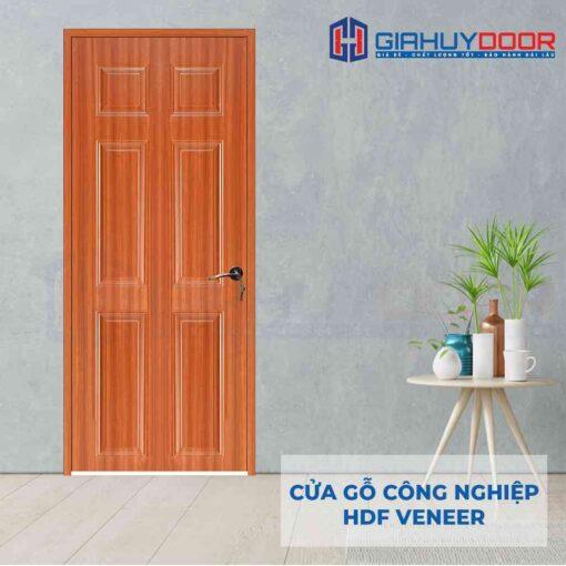 Cửa gỗ công nghiệp HDF Veneer 6A-sapele