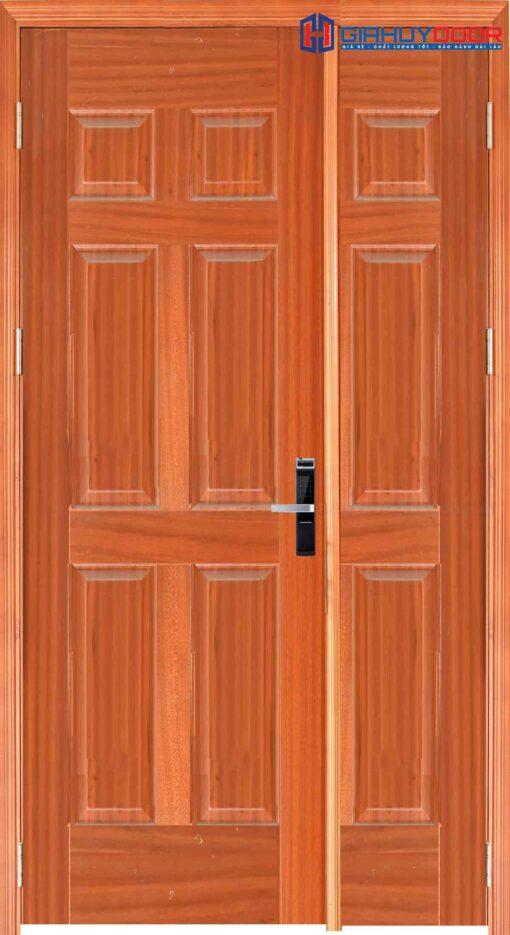 Cửa gỗ công nghiệp HDF Veneer 9A-sapele