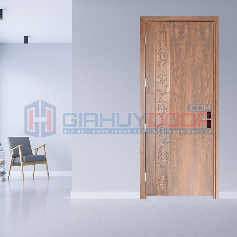 Cửa gỗ công nghiệp MDF vân gỗ