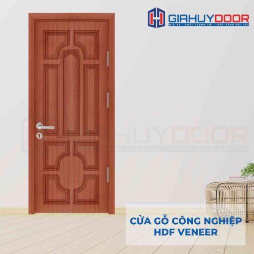 Cửa gỗ công nghiệp HDF Veneer 018 teak (1)