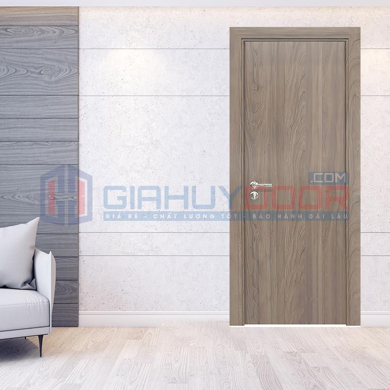 Cửa gỗ công nghiệp HDF Melamine vân gỗ giống cửa gỗ tự nhiên