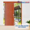 Cửa gỗ công nghiệp MDF Veneer Cua lua truot MDF P1-4