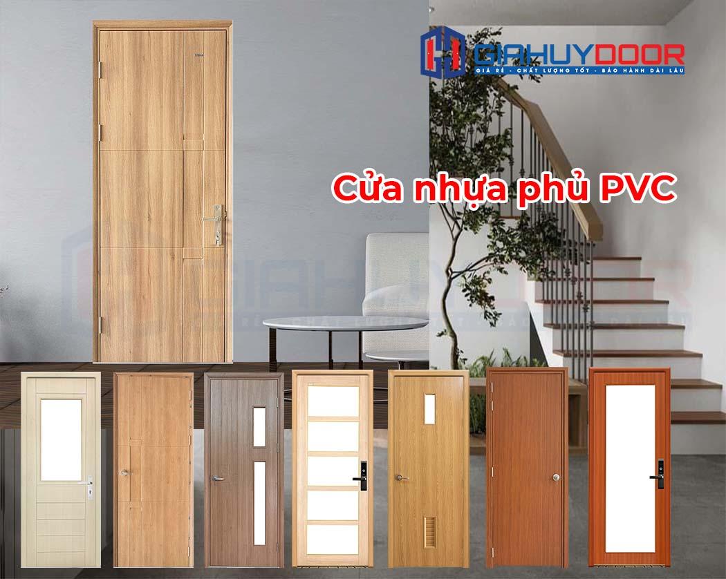 Cửa nhựa vân gỗ giá rẻ phủ PVC
