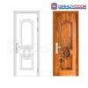 Cửa thép vân gỗ GHDGS1H6-mau-vang