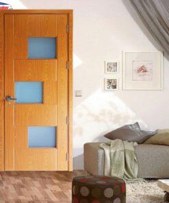 Cửa gỗ MDF MELAMINE Veneer M1G3 Oak giahuydoor 0886.500.500