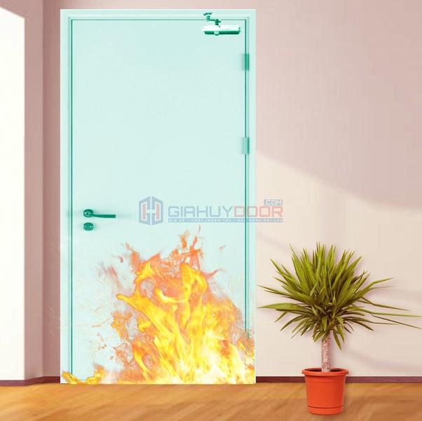 Các mẫu cửa thoát hiểm có tính năng chống cháy hoặc không
