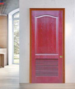 Cửa gỗ công nghiệp HDF GHD 2L-C12 - GIAHUYDOOR 0886.500.500