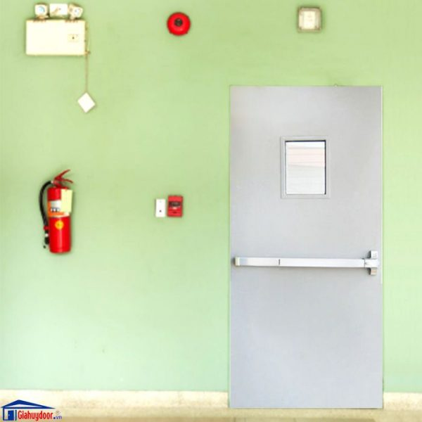 Cửa Thép chống cháy TCC-P1G1bg - giahuydoor 0886.500.500