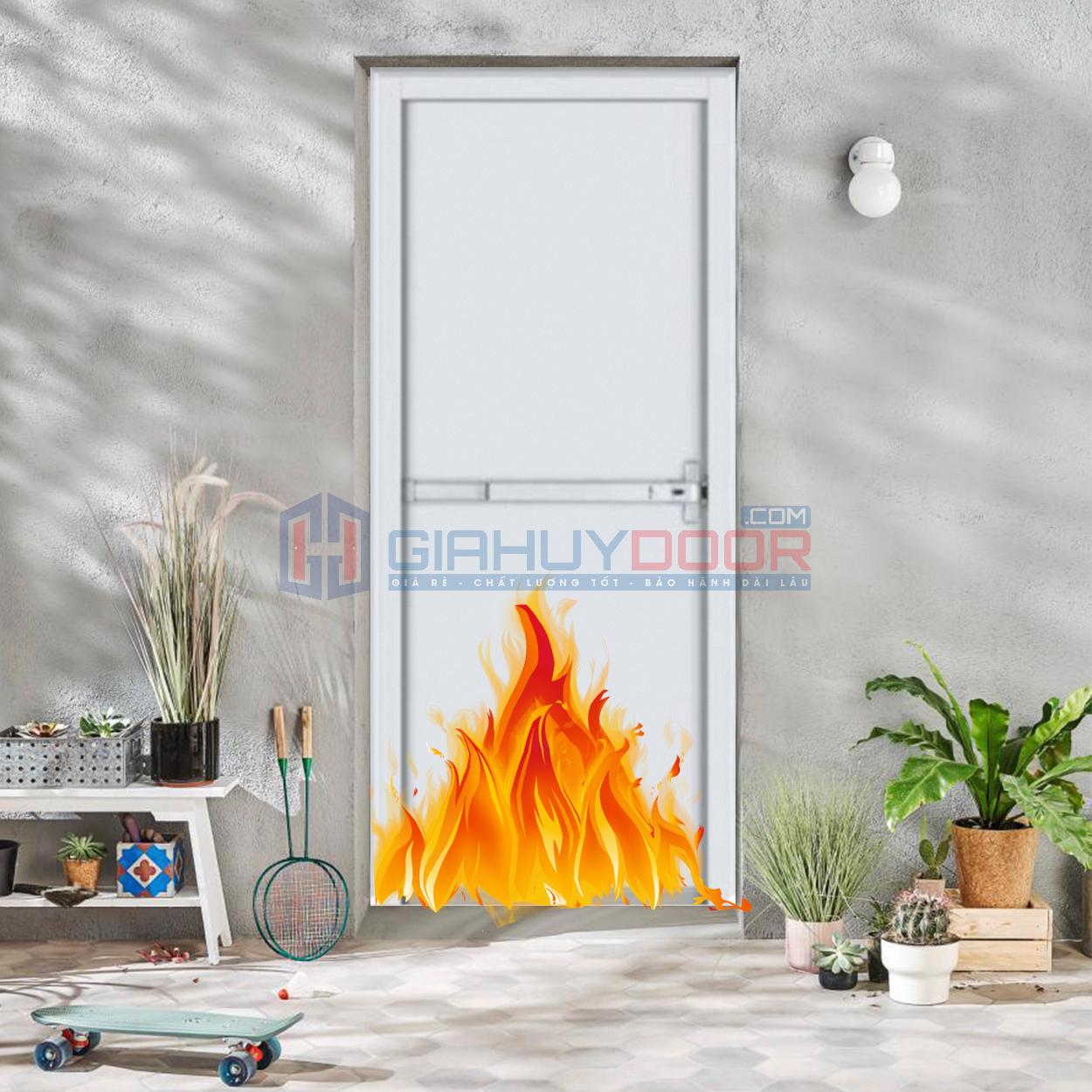 Mẫu cửa chống cháy bằng thép 01