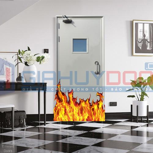 Cửa thép chống cháy 1 cánh đẹp
