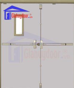 Cửa thép chống cháy TCC.P3-G1-C4