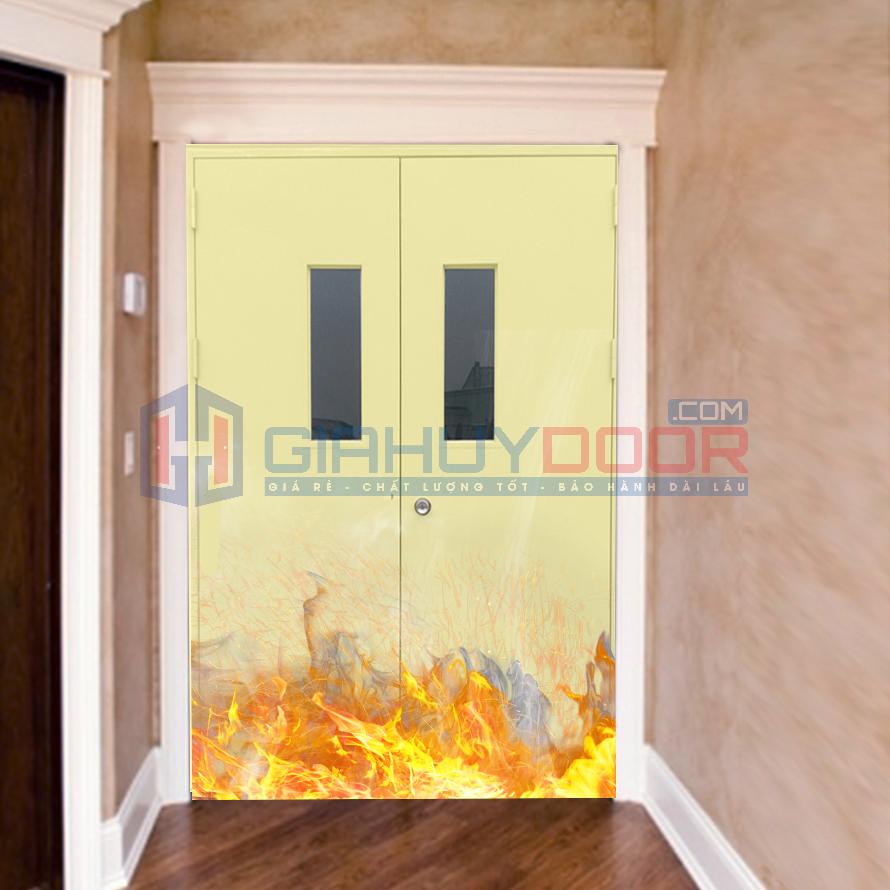 Cửa thoát hiểm chống cháy hai cánh