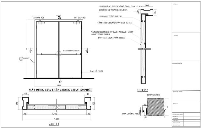 bản vẽ thiết kế cửa thép chống cháy 60 phút 0886.500.500