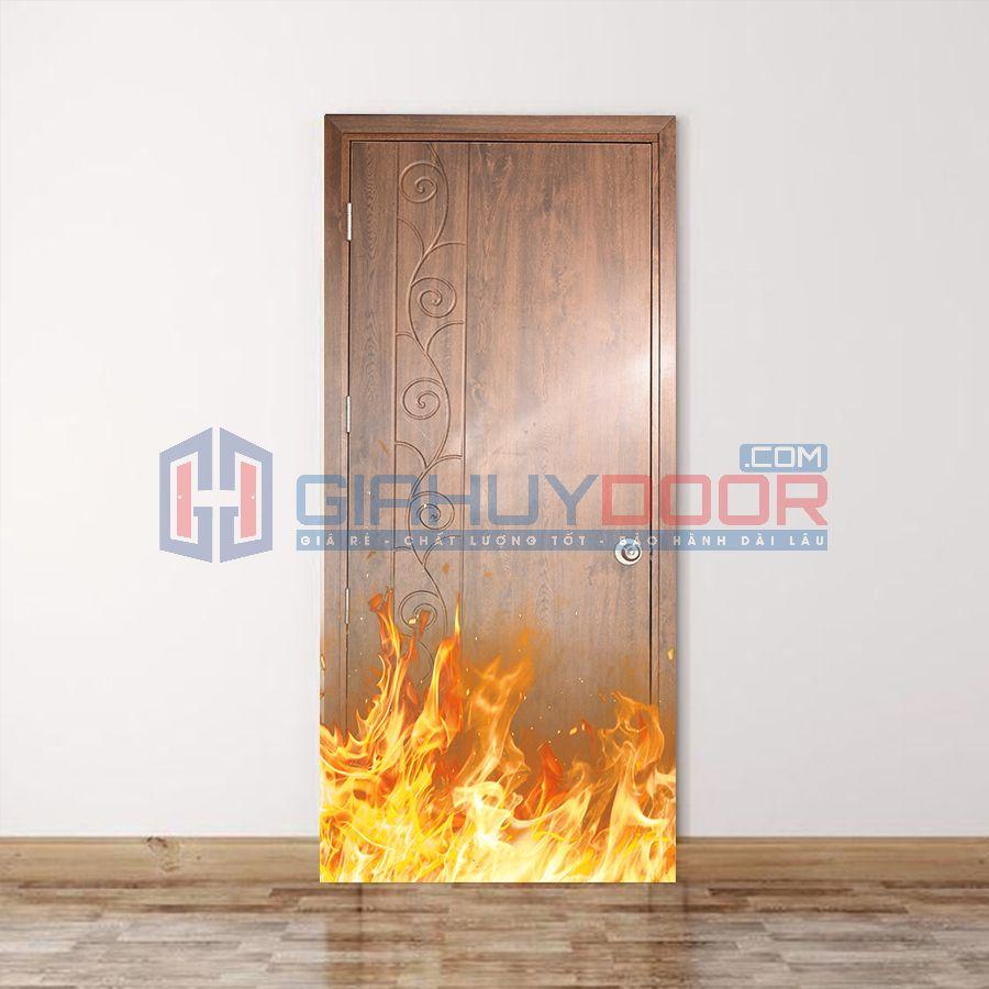Mẫu cửa gỗ chống cháy 08