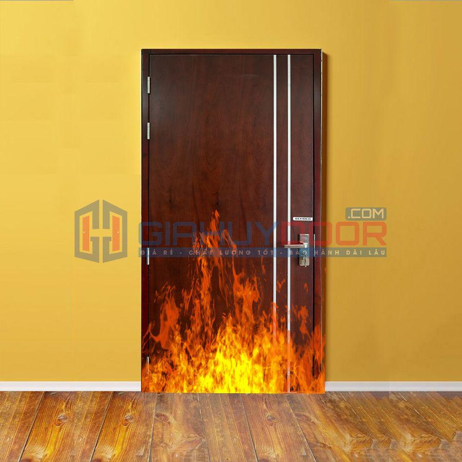 Mẫu cửa gỗ chống cháy 07