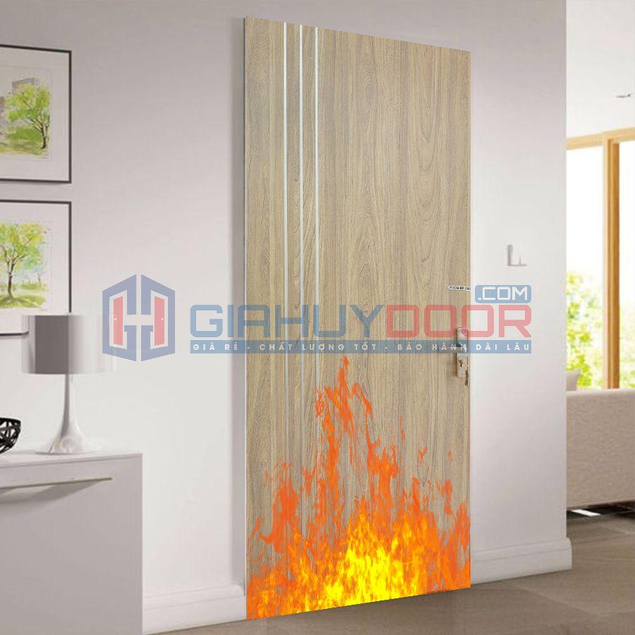 Mẫu cửa gỗ chống cháy 06