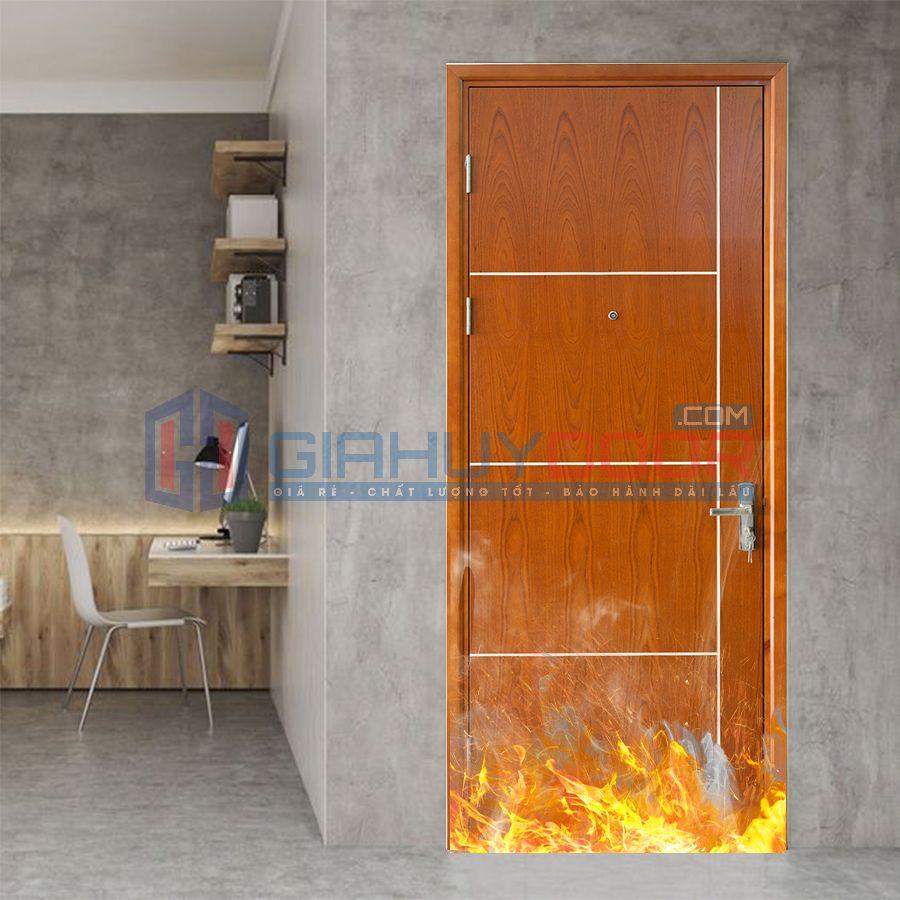 Mẫu cửa gỗ chống cháy 05