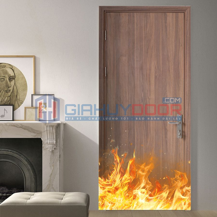 Mẫu cửa gỗ chống cháy 04