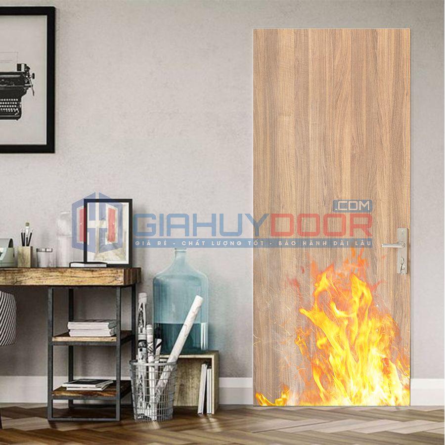 Mẫu cửa gỗ chống cháy 03