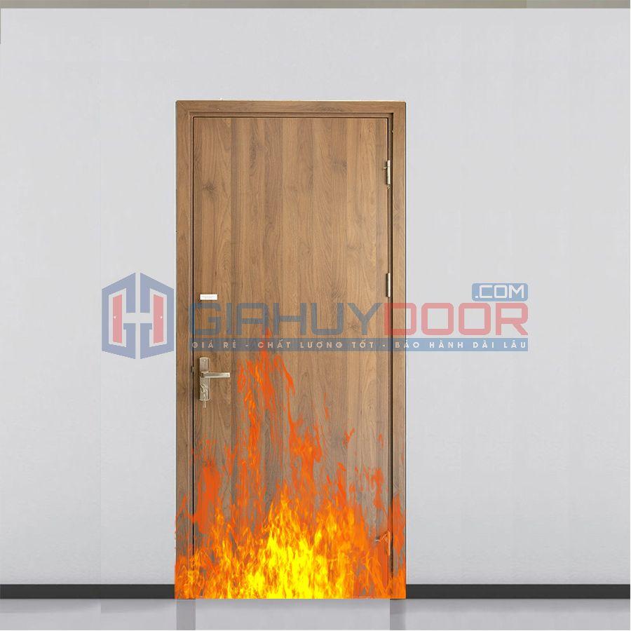 Mẫu cửa gỗ chống cháy 02