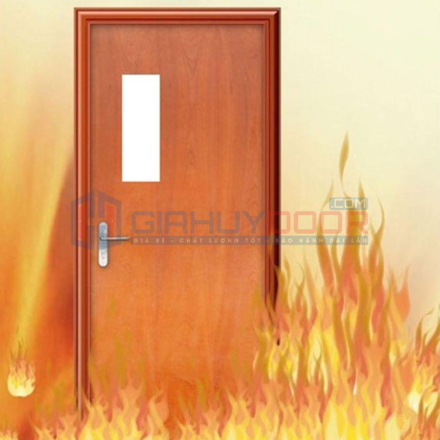 Cửa gỗ chống cháy chung cư