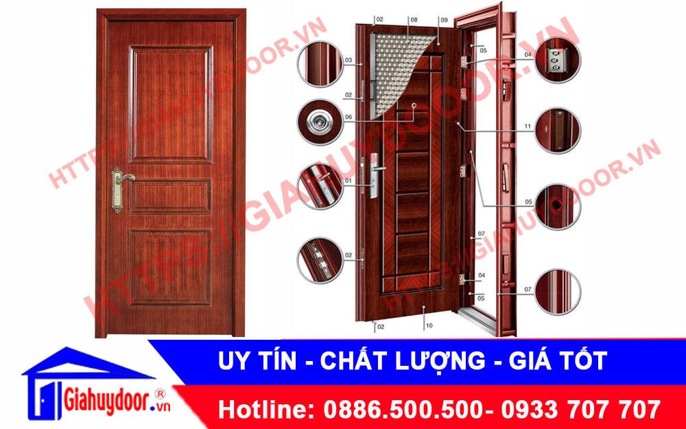 mẫu cửa thép vân gỗ chống cháy