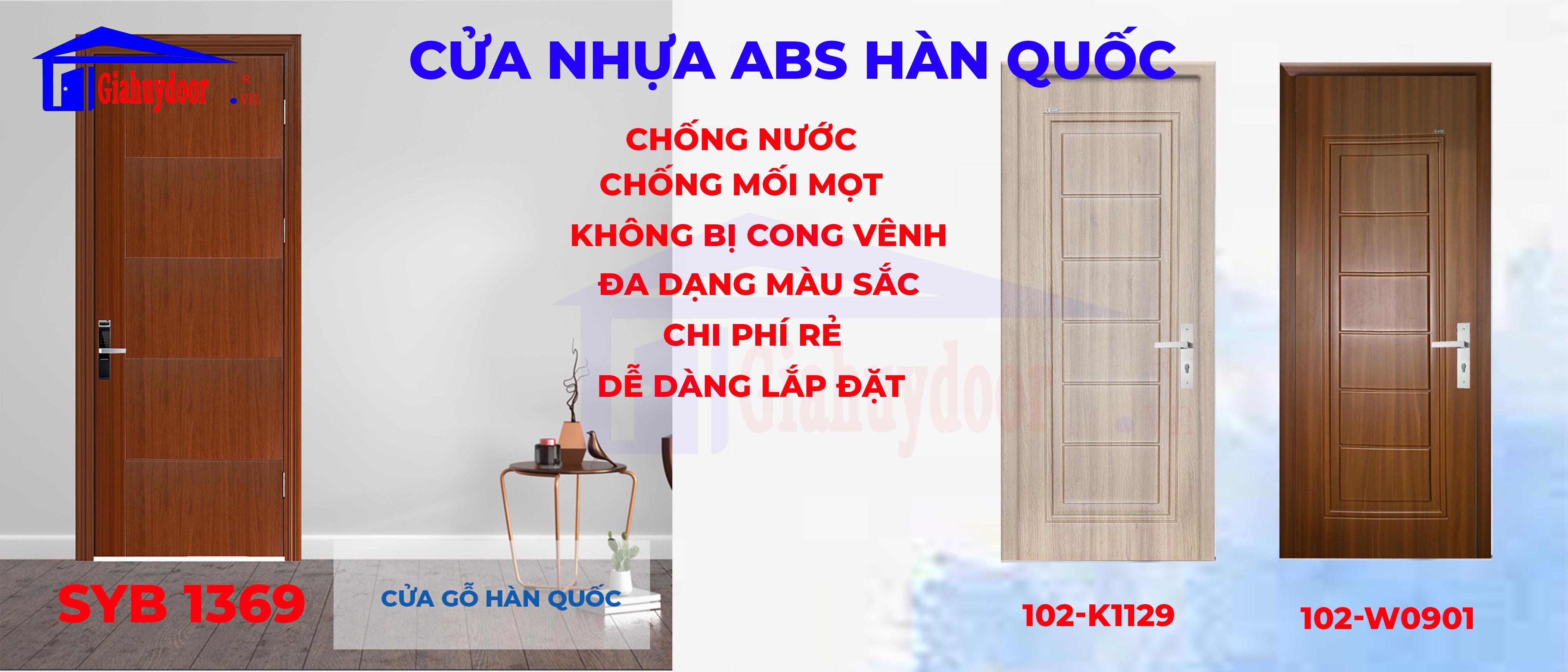 Cửa nhựa giả gỗ giá rẻ chống nước ABS Hàn Quốc