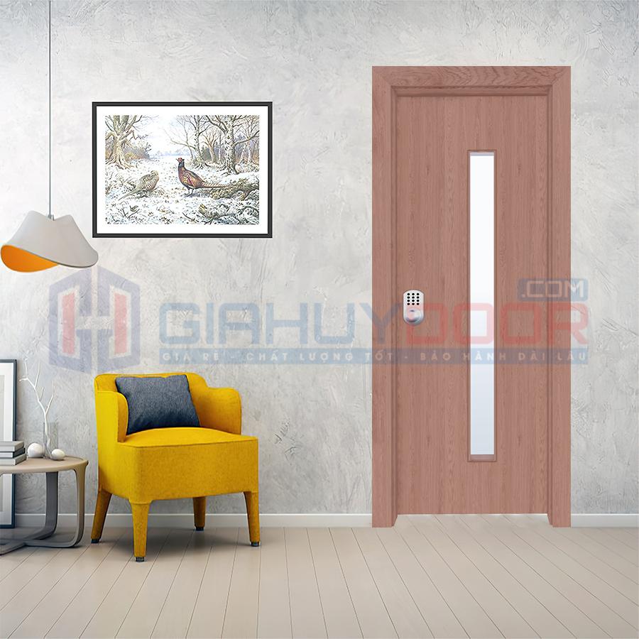 Khuôn ngoại cửa gỗ được sản xuất hoàn toàn từ chất liệu gỗ, thường không có ron giảm âm trên khung