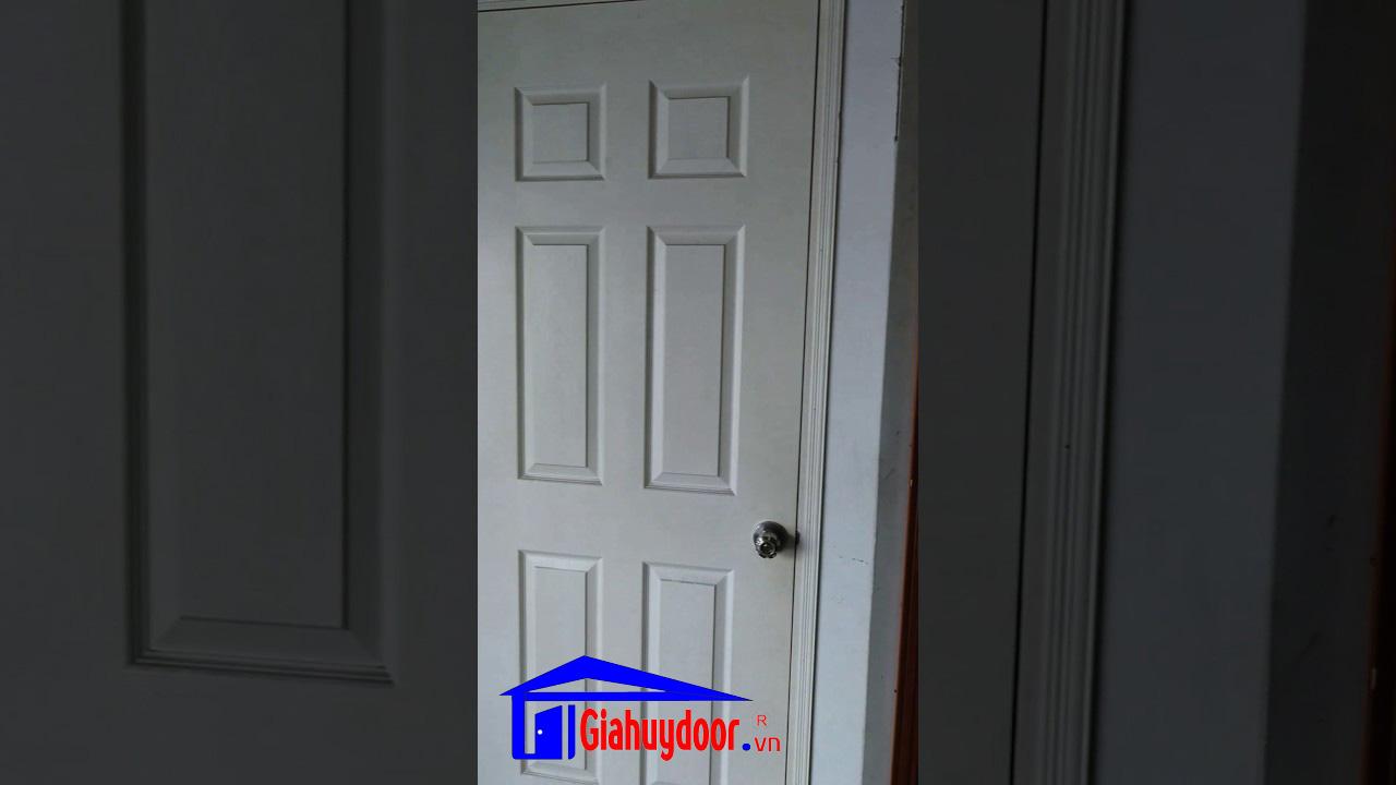 Cửa gỗ HDF hiện đại sang trọng tại Gia Huy Door 0896.901.901